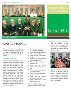 School council newsletter