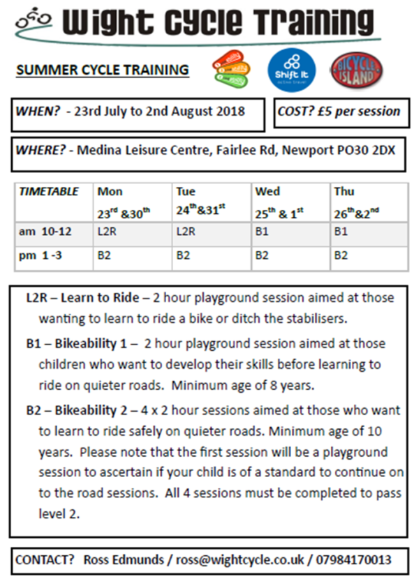 Wight Cycle Training