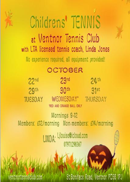 Ventnor Tennis Autumn 2019